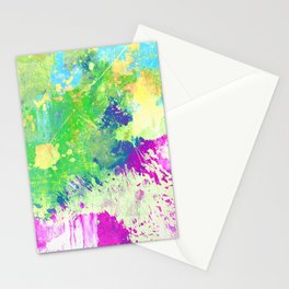 Love Colour (Abstract, colourful painting) Stationery Cards