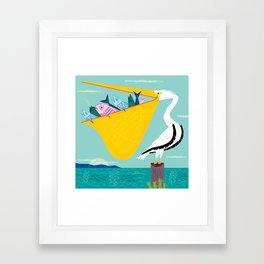 The Greedy Pelican Framed Art Print