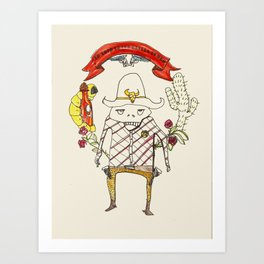 A New Sheriff's In Town Art Print