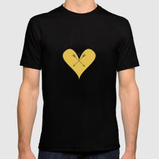 Love is all around Mens Fitted Tee Black MEDIUM