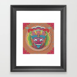 Scary Bali Monster Framed Art Print