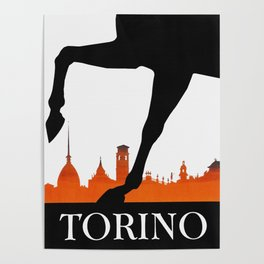 Vintage Torino or Turin Italy Travel Poster Poster
