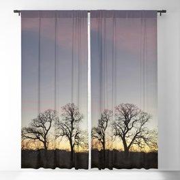 Autumn Sunset Silhouette - Pheasant Branch Conservancy Blackout Curtain