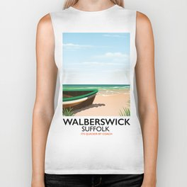 Walberswick Suffolk travel poster Biker Tank