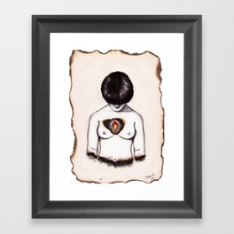 SLOW BURN Framed Art Print