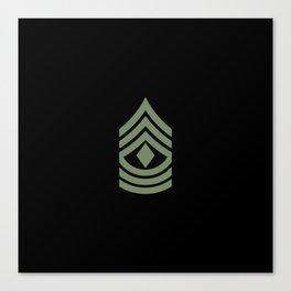 1st Sergeant (Green) Canvas Print