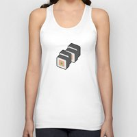 sushi Tank Tops featuring Sushi by Paul Goerne