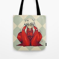inuyasha Tote Bags featuring Inuyasha by KanaHyde