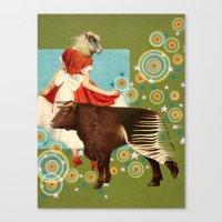 bull Canvas Prints featuring BULL**** by Julia Lillard Art