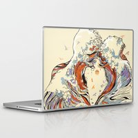 inspirational Laptop & iPad Skins featuring The Wave of Love by Huebucket