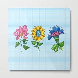 Three Dancing Flowers Metal Print