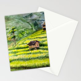 Rice Terrace Fields in Mu Cang Chai, Vietnam Stationery Cards