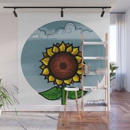 kitschy sunflower Wall Mural