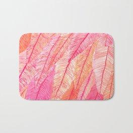Blush Feathers Bath Mat