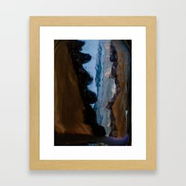 Split in two Framed Art Print