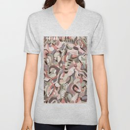 Abstract Expressionist Oil Painting Unisex V-Neck