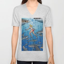 Below The Surface! Unisex V-Neck