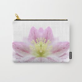 Hellebore Flower Symmetry Carry-All Pouch