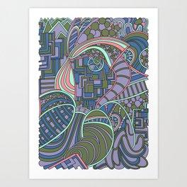 Wandering 48: color variation 1 Art Print