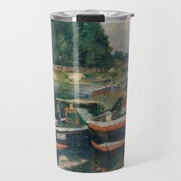 Barges at Pontoise,1876 Travel Mug