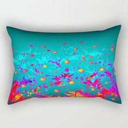 Faerie Garden Vignette | Flower | Flowers | Rectangular Pillow