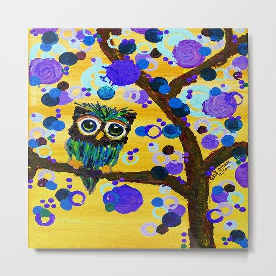 :: Sunshine Gemmy Owl :: Metal Print