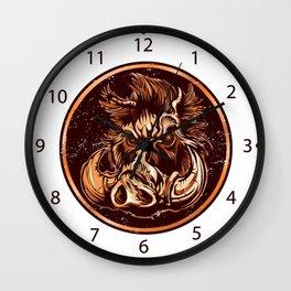 illustration of a Boar Wall Clock