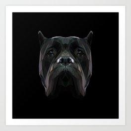 Cane Corso dog low poly. Art Print