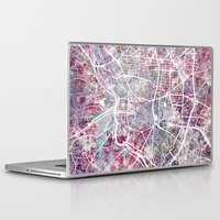 madrid Laptop & iPad Skins featuring Madrid map by MapMapMaps.Watercolors