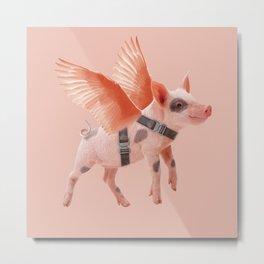 Little Piggy can Fly Metal Print