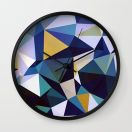 Abstract Geometric Triangle Pattern Wall Clock