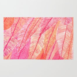 Blush Feathers Rug