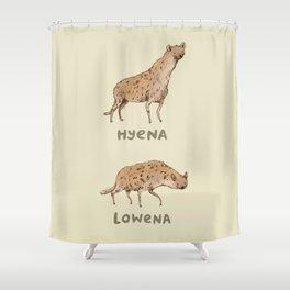 Hyena Lowena Shower Curtain