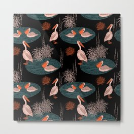 BIRDS IN PARADISE Metal Print