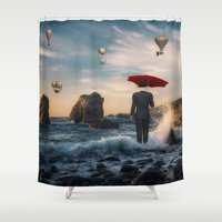 magritte Shower Curtains featuring A la Magritte by Susann Mielke