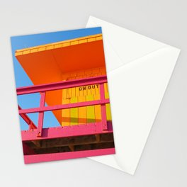 Bright Miami Beach Lifeguard Stand Stationery Cards