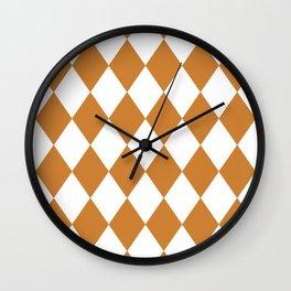 Diamonds (Bronze/White) Wall Clock