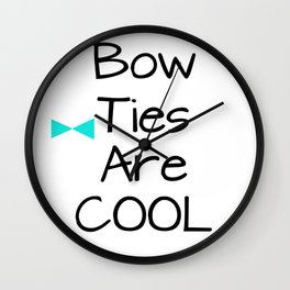 DOCTOR WHO Bow Ties Are Cool Aqua Wall Clock