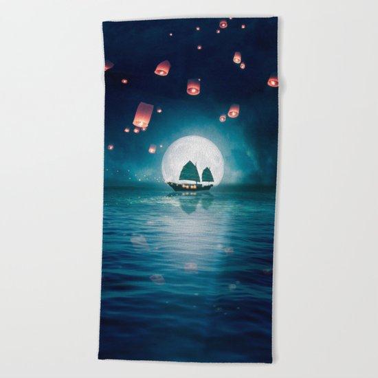 Travel through the Lights Beach Towel