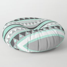 Turquoise Tribal Floor Pillow