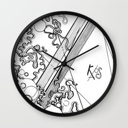 Black and White Chaos Wall Clock