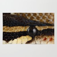 monty python Area & Throw Rugs featuring Python by Mark Johnson