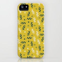 Vine Gold Leaves iPhone Case
