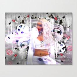 XSuperModels x Rashin - Glitter Freeze Canvas Print