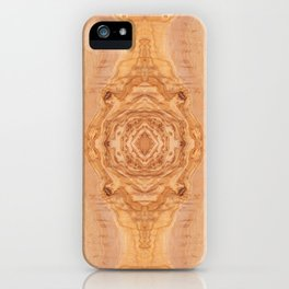 Olive wood surface texture abstract iPhone Case