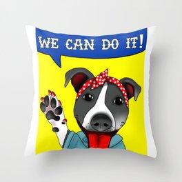 Lu the Riveter! Throw Pillow