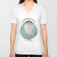 hedwig V-neck T-shirts featuring RIP Hedwig by 366Sketchbook