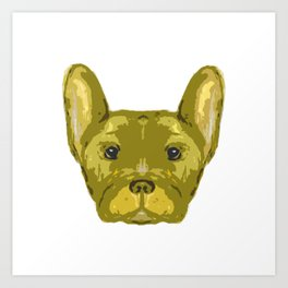 Yellow Frenchie Top. Art Print