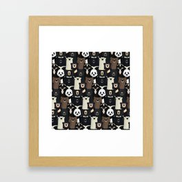 Bears of the world pattern Framed Art Print