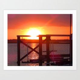 Folly Beach Sunset Art Print